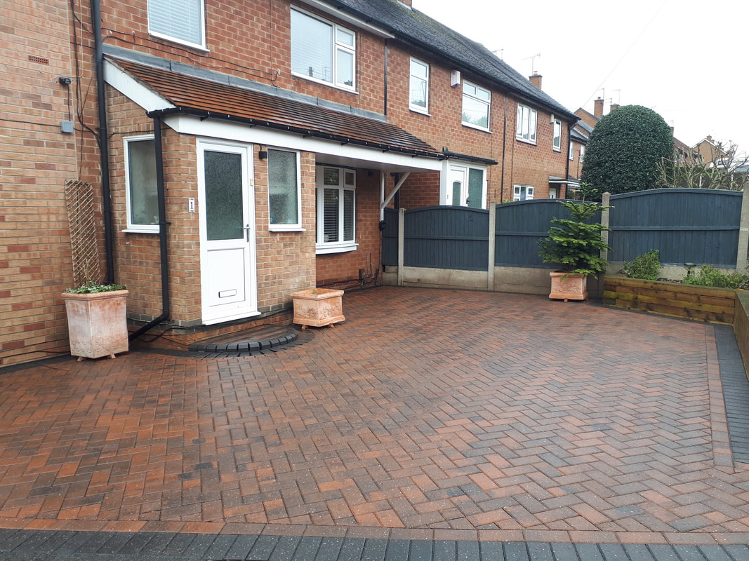 Block paving after cleaned and sealed