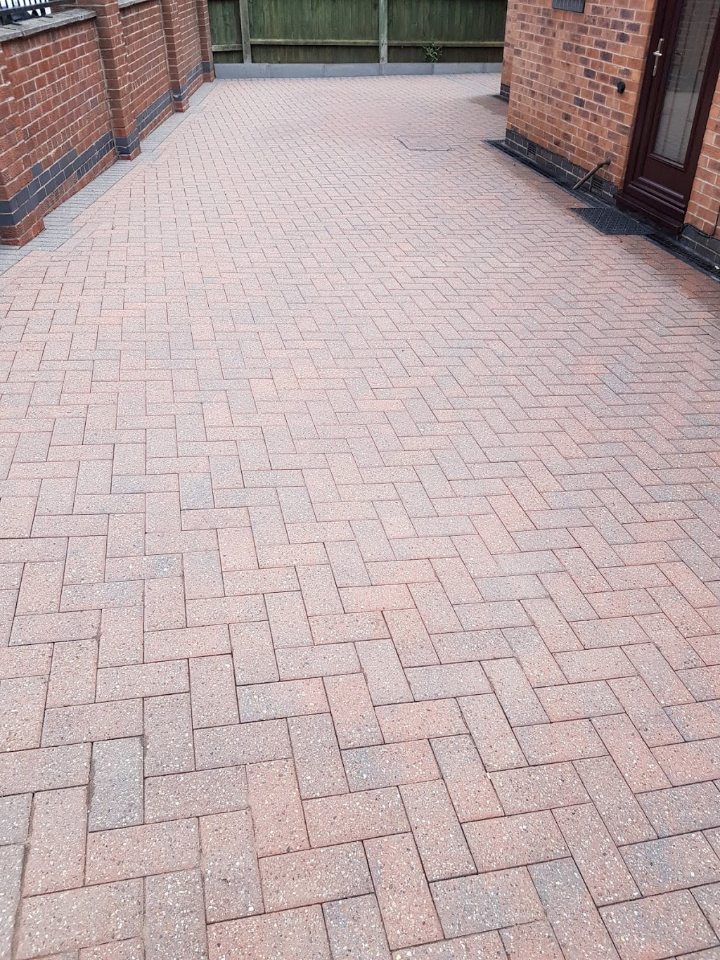 block paving after pressure washing in Nottingham