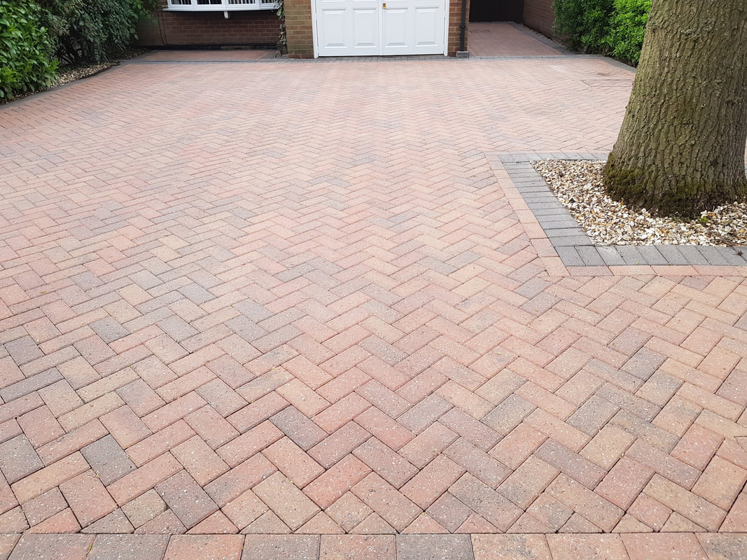 Block Paving after professional cleaning