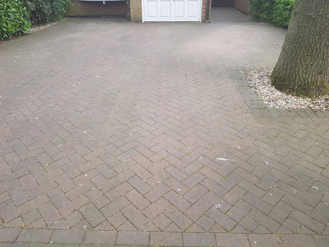 Block Paving before professional Cleaning