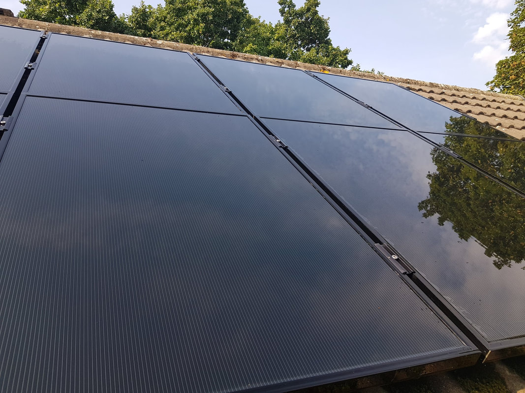 solar panel after being professionally cleaned